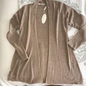 Silk Cashmere Split Back Sweater